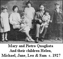 Mary & Pietro Quagliata and their children Helen, Michael, Jane, Leo & Sam  c. 1927
