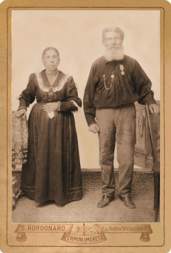 A photo of Mario and Maria Quagliata, c. 1895.